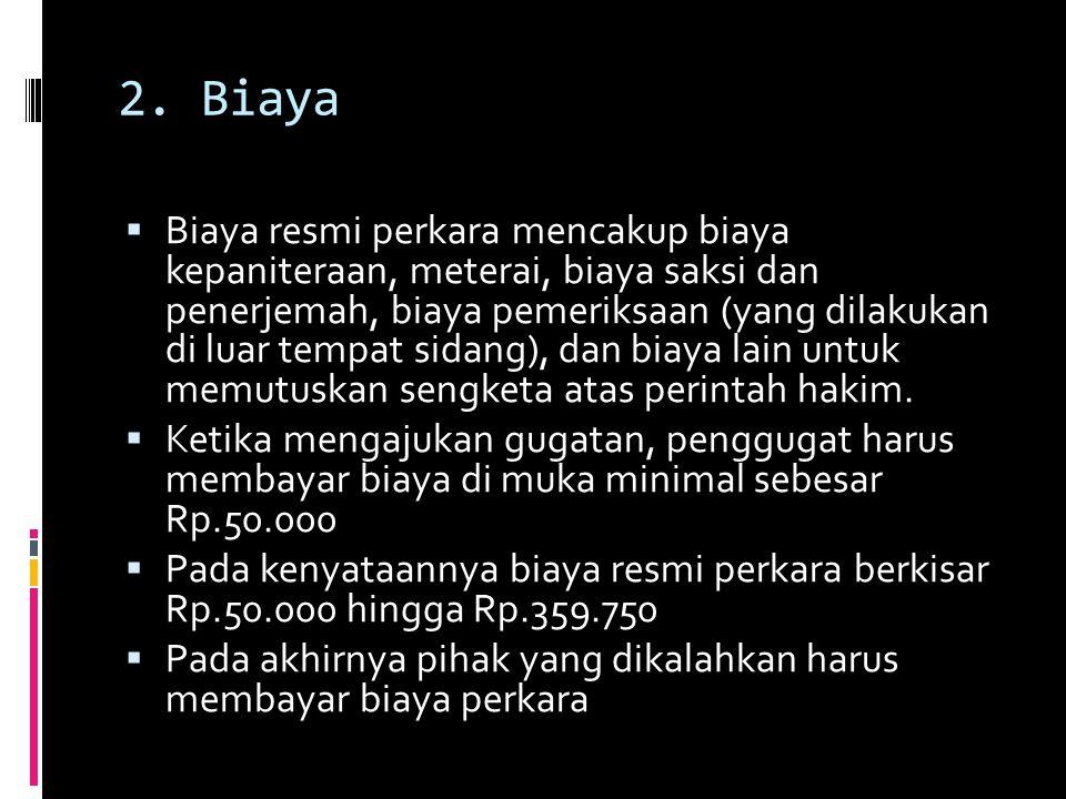 2. Biaya