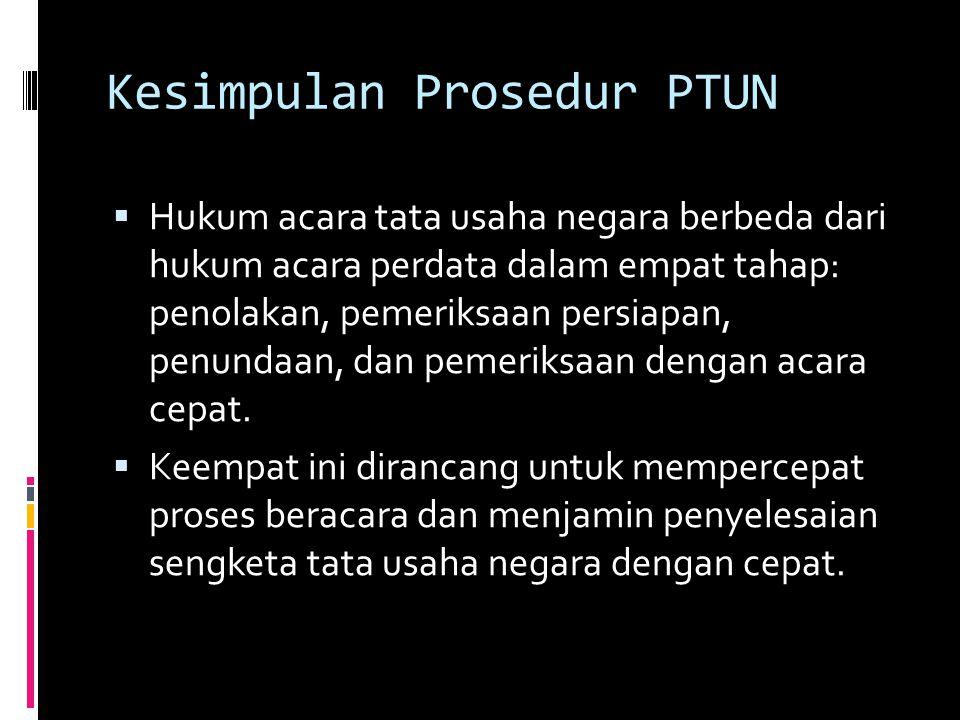 Kesimpulan Prosedur PTUN