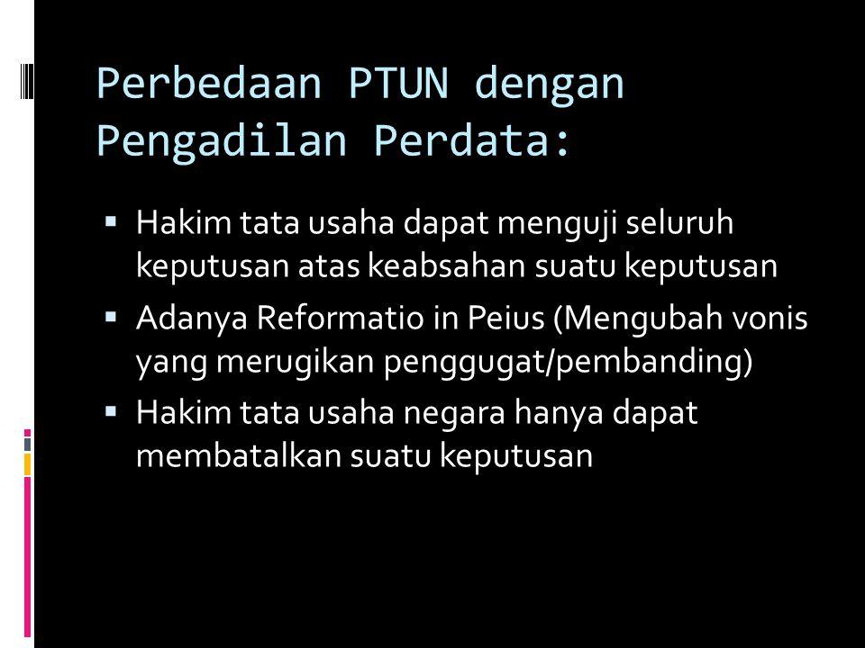 Perbedaan PTUN dengan Pengadilan Perdata: