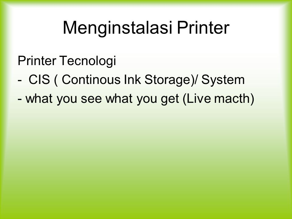 Menginstalasi Printer