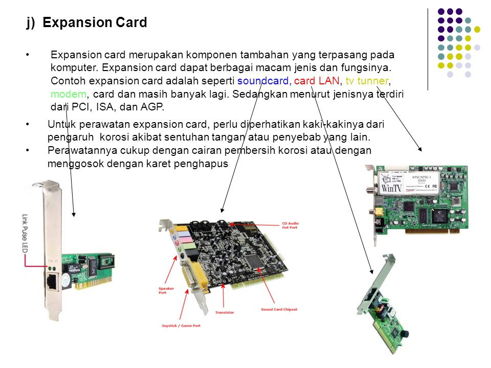 j) Expansion Card