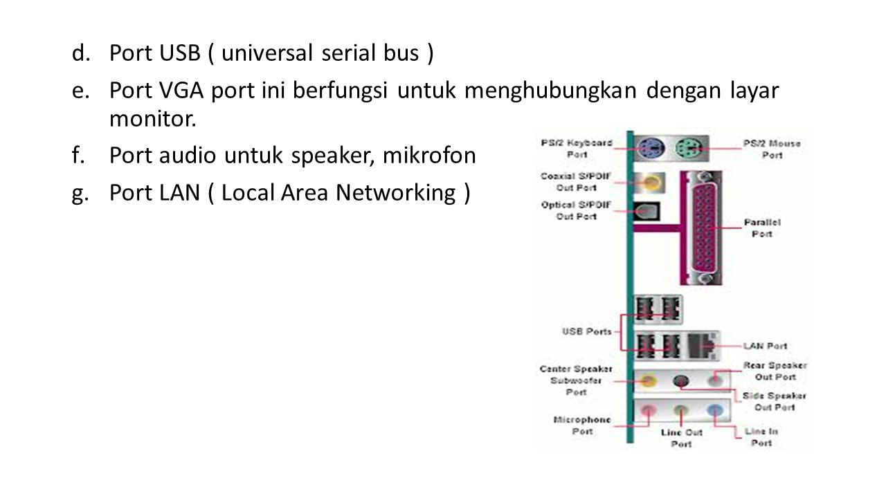Port USB ( universal serial bus )