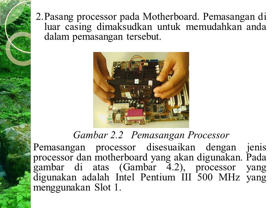 Gambar 2.2 Pemasangan Processor
