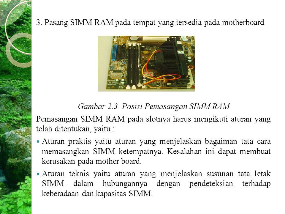Gambar 2.3 Posisi Pemasangan SIMM RAM