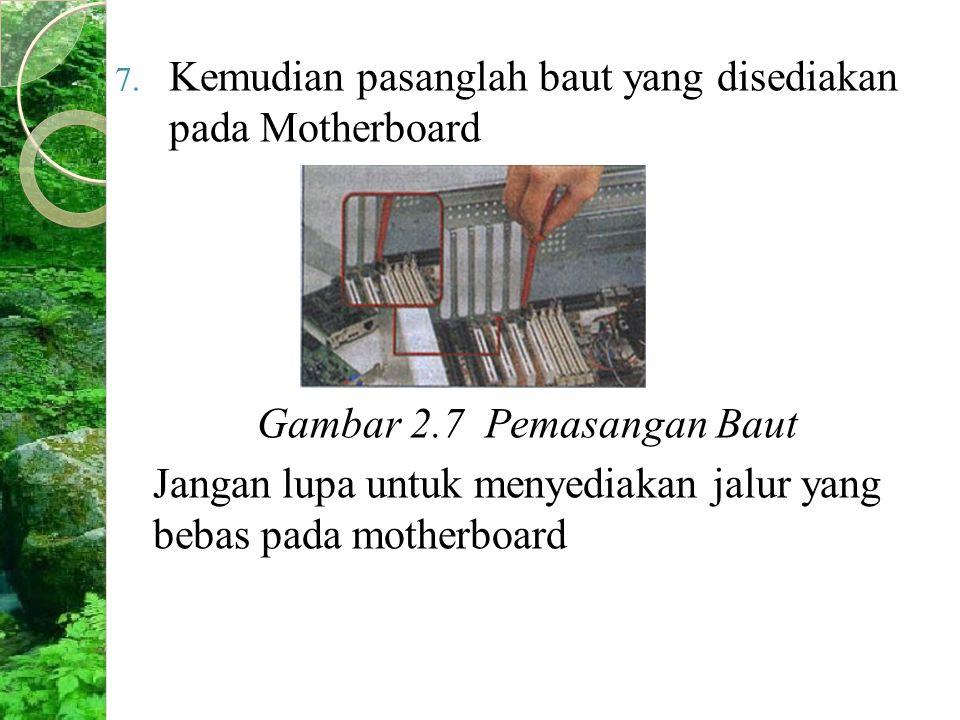 Gambar 2.7 Pemasangan Baut
