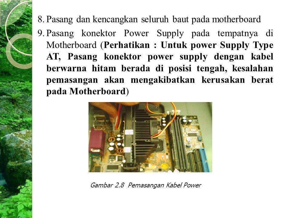 Gambar 2.8 Pemasangan Kabel Power