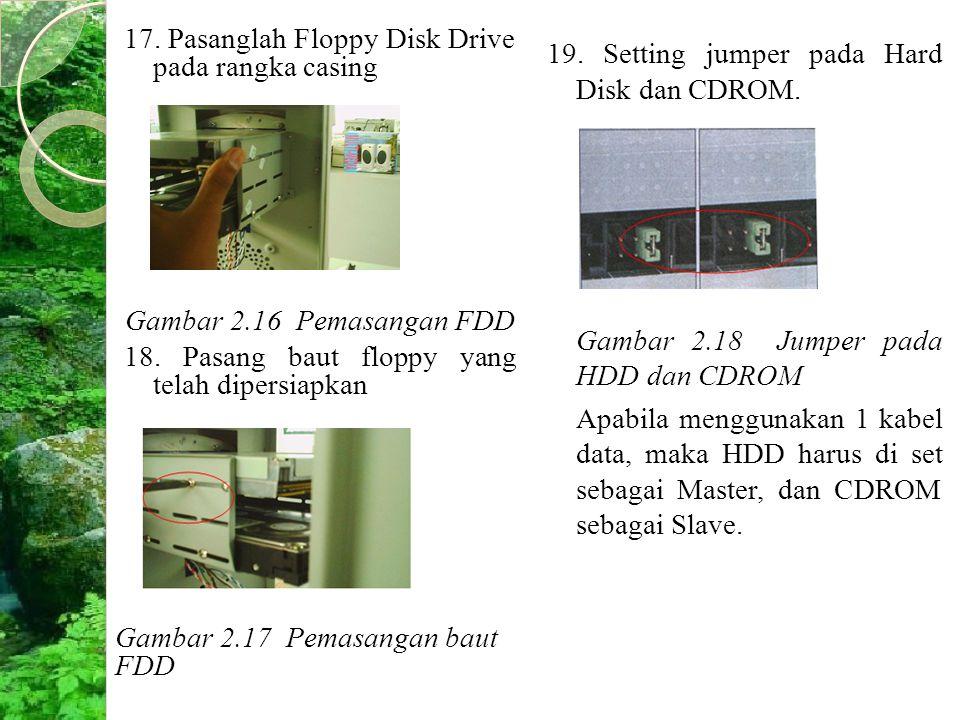 17. Pasanglah Floppy Disk Drive pada rangka casing Gambar 2