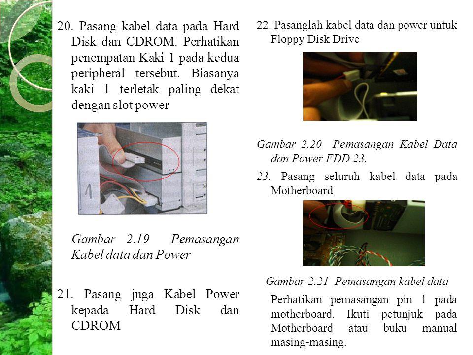 Gambar 2.19 Pemasangan Kabel data dan Power