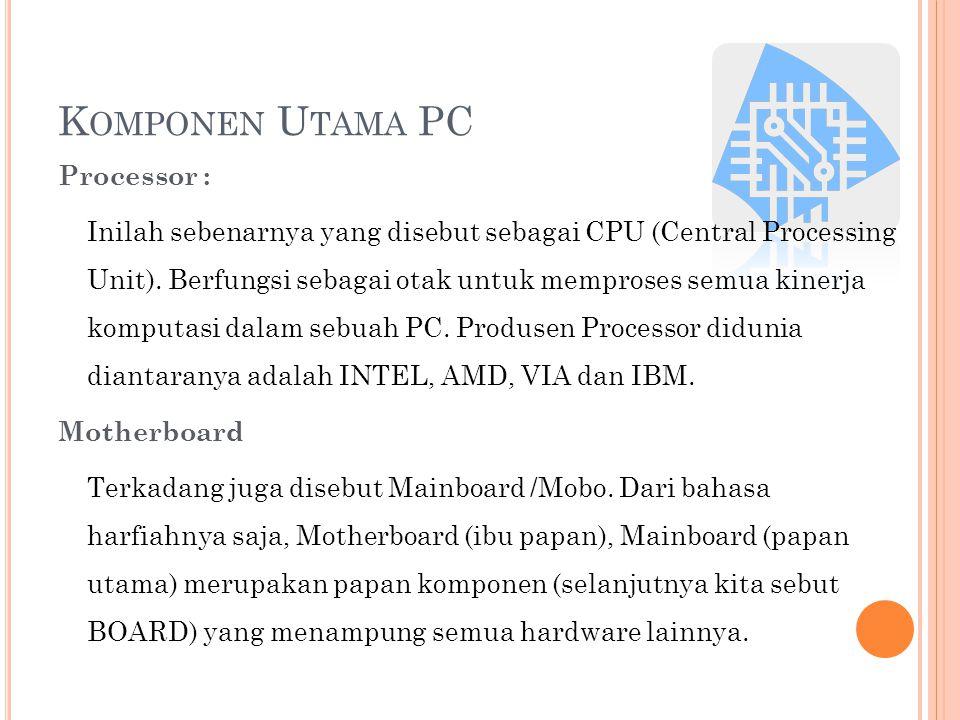 Komponen Utama PC