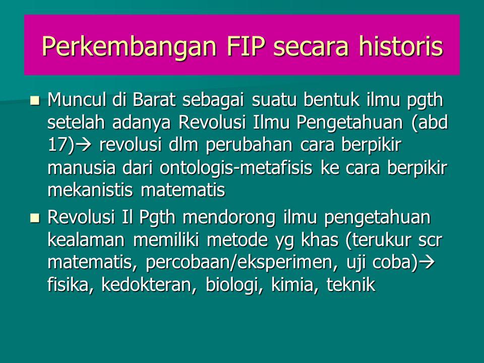 Perkembangan FIP secara historis