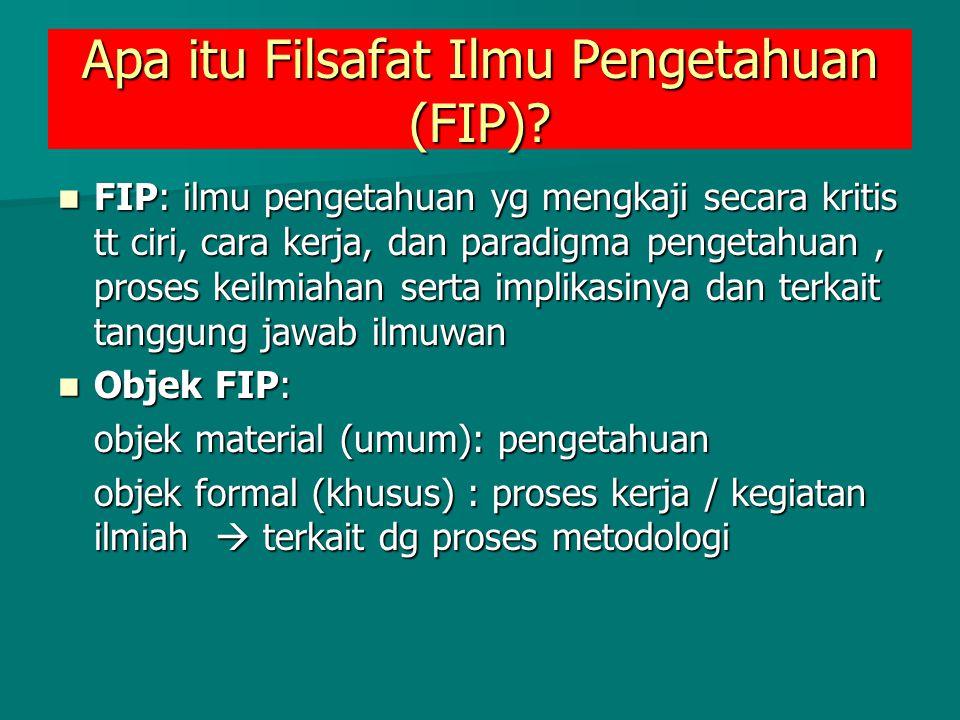 Apa itu Filsafat Ilmu Pengetahuan (FIP)