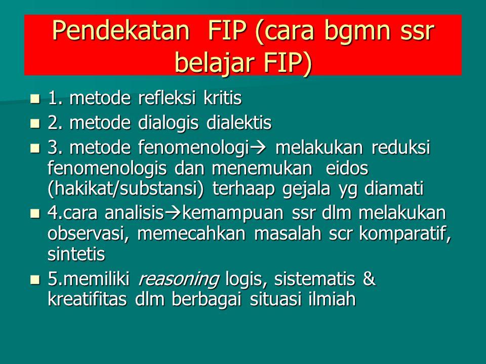 Pendekatan FIP (cara bgmn ssr belajar FIP)