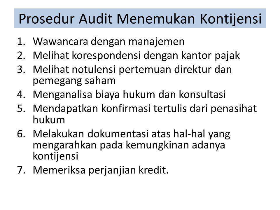 Prosedur Audit Menemukan Kontijensi