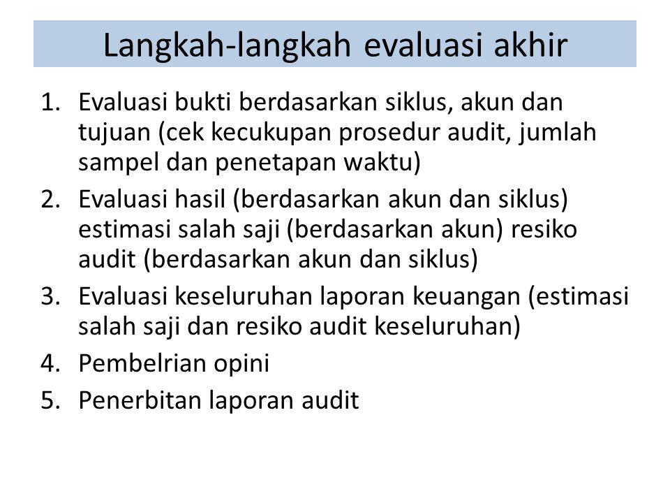 Langkah-langkah evaluasi akhir