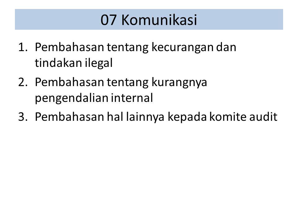 07 Komunikasi Pembahasan tentang kecurangan dan tindakan ilegal