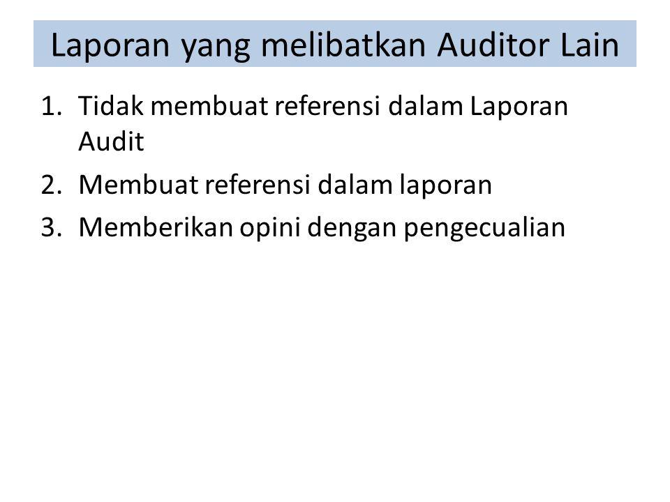 Laporan yang melibatkan Auditor Lain