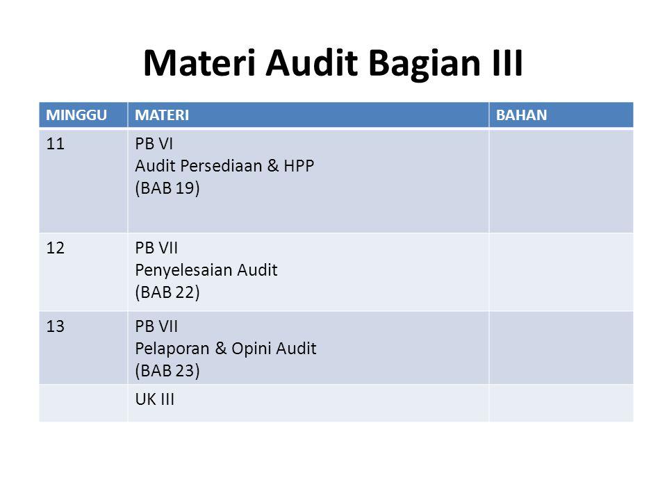 Materi Audit Bagian III