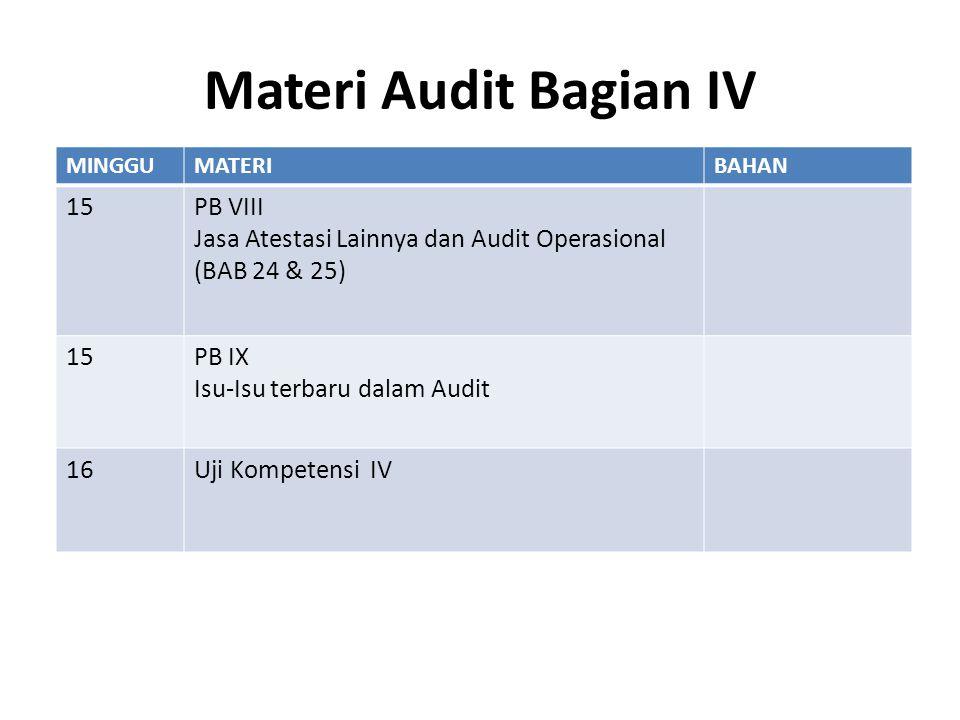 Materi Audit Bagian IV 15 PB VIII