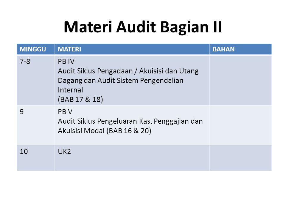 Materi Audit Bagian II 9 PB V