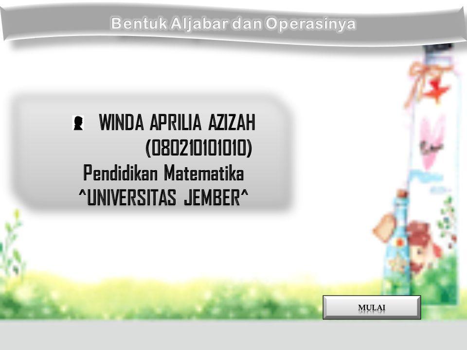 WINDA APRILIA AZIZAH (080210101010) Pendidikan Matematika