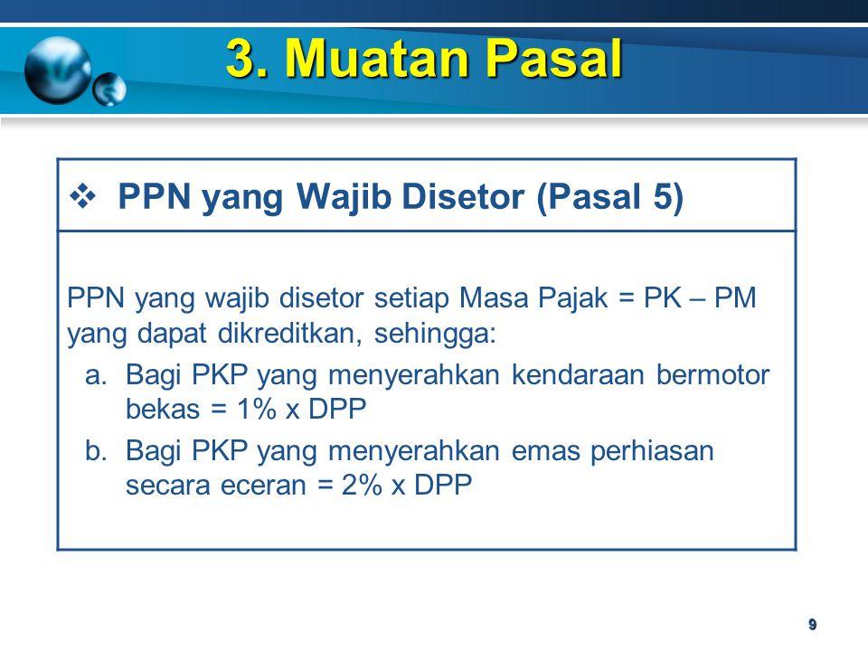 3. Muatan Pasal PPN yang Wajib Disetor (Pasal 5)