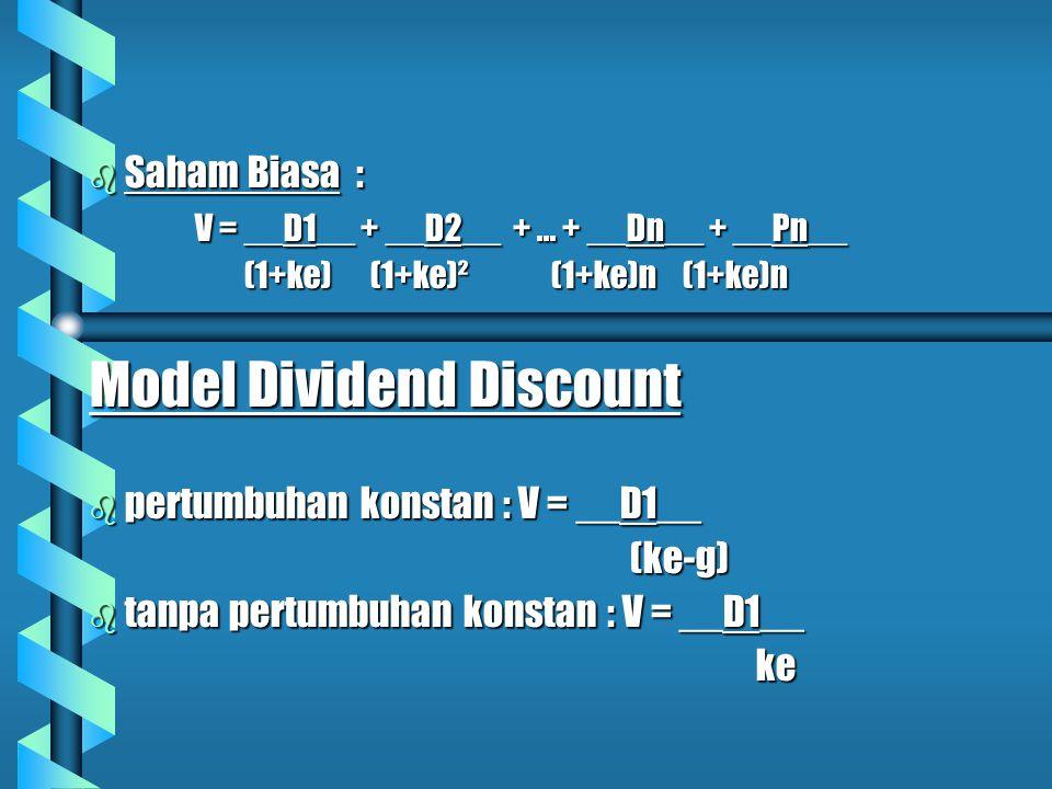 Model Dividend Discount