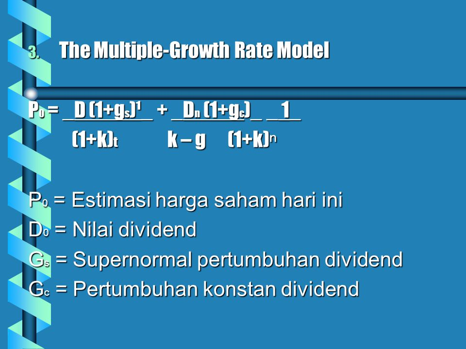 The Multiple-Growth Rate Model