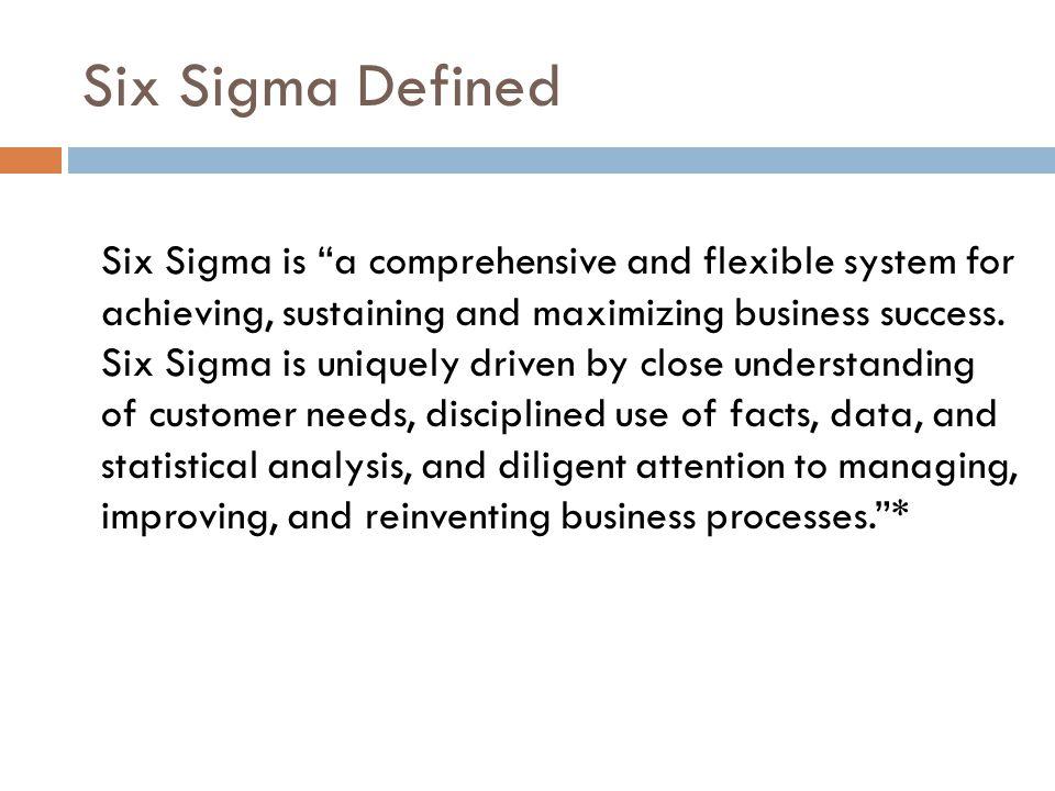 Six Sigma Defined