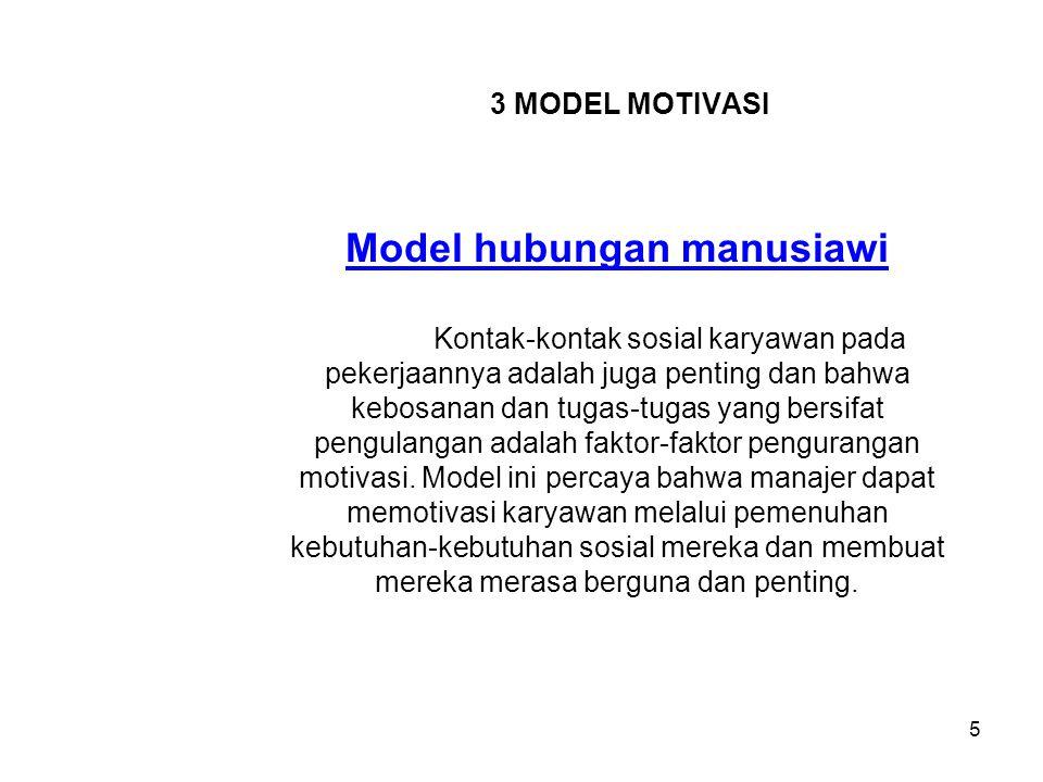 Model hubungan manusiawi
