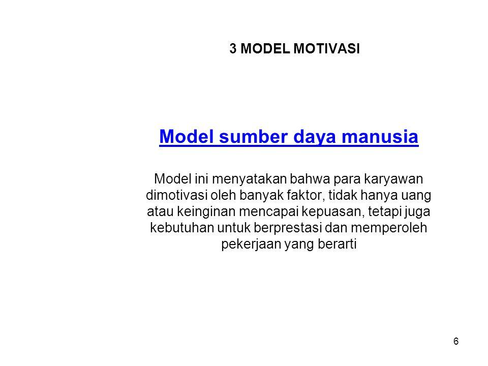 Model sumber daya manusia