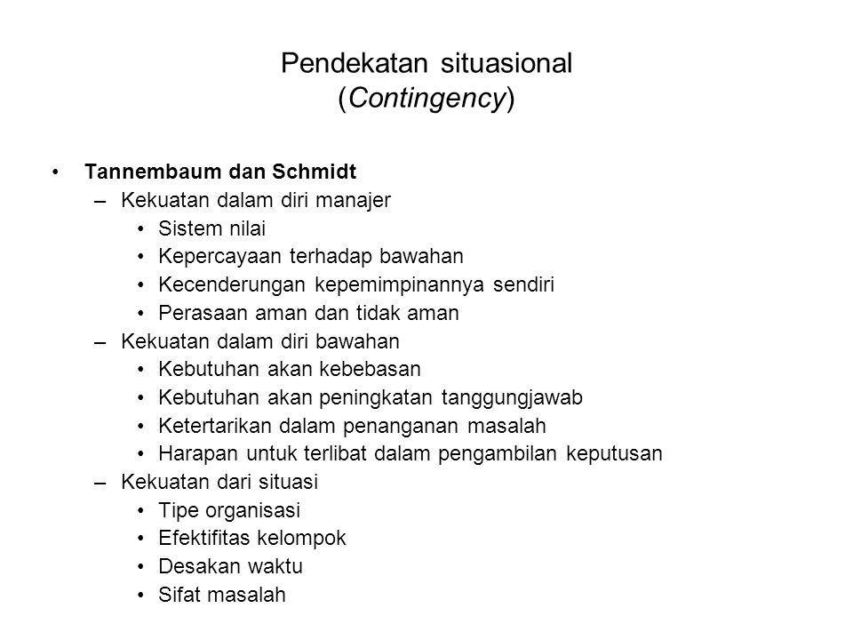Pendekatan situasional (Contingency)