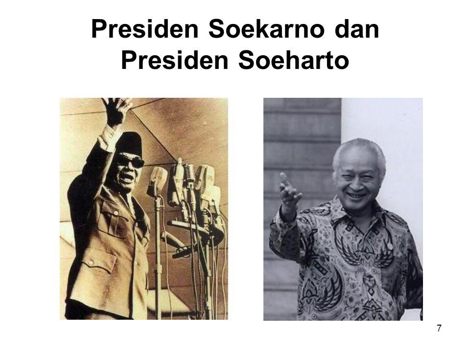 Presiden Soekarno dan Presiden Soeharto
