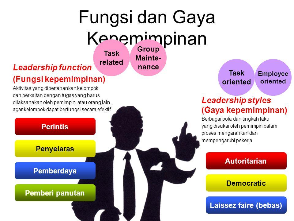 Fungsi dan Gaya Kepemimpinan