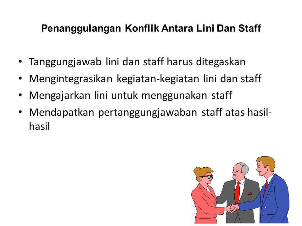 Penanggulangan Konflik Antara Lini Dan Staff