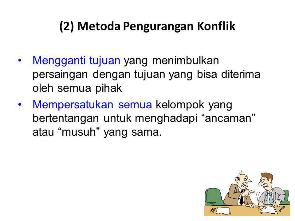 (2) Metoda Pengurangan Konflik