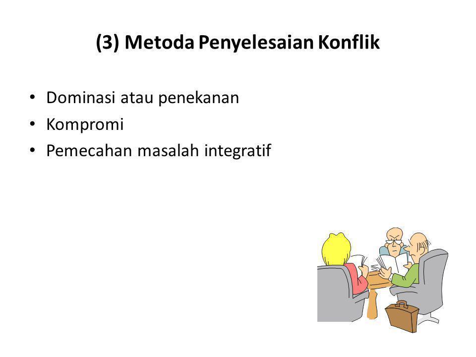 (3) Metoda Penyelesaian Konflik