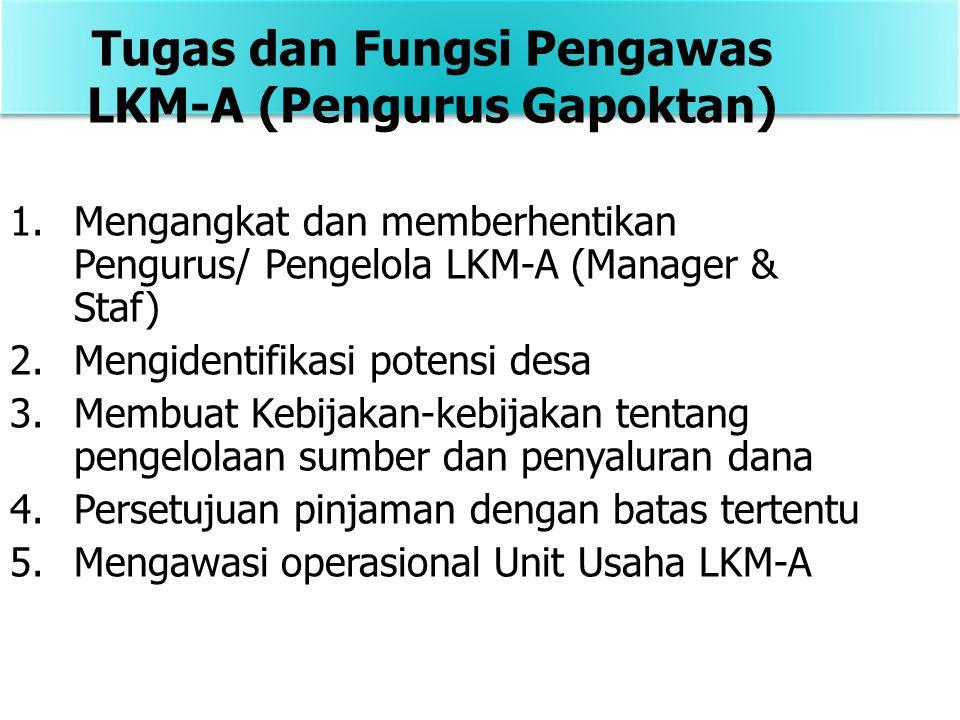 Tugas dan Fungsi Pengawas LKM-A (Pengurus Gapoktan)