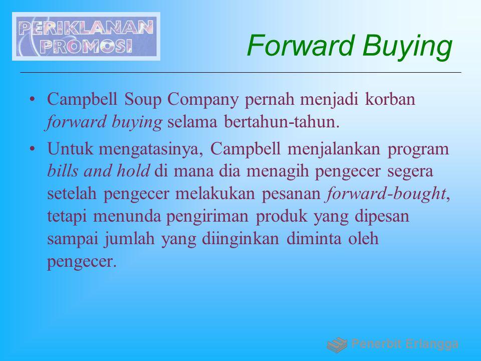 Forward Buying Campbell Soup Company pernah menjadi korban forward buying selama bertahun-tahun.