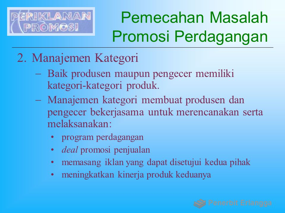 Pemecahan Masalah Promosi Perdagangan