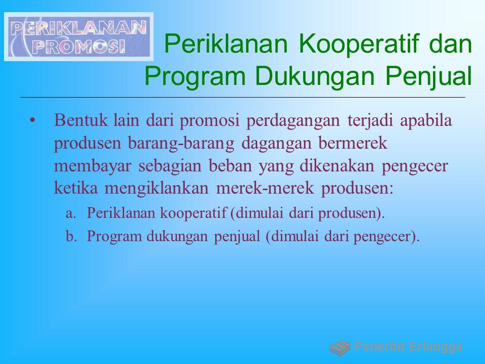 Periklanan Kooperatif dan Program Dukungan Penjual
