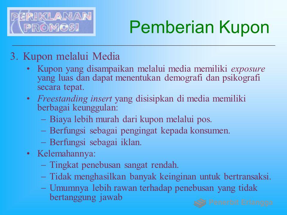 Pemberian Kupon Kupon melalui Media
