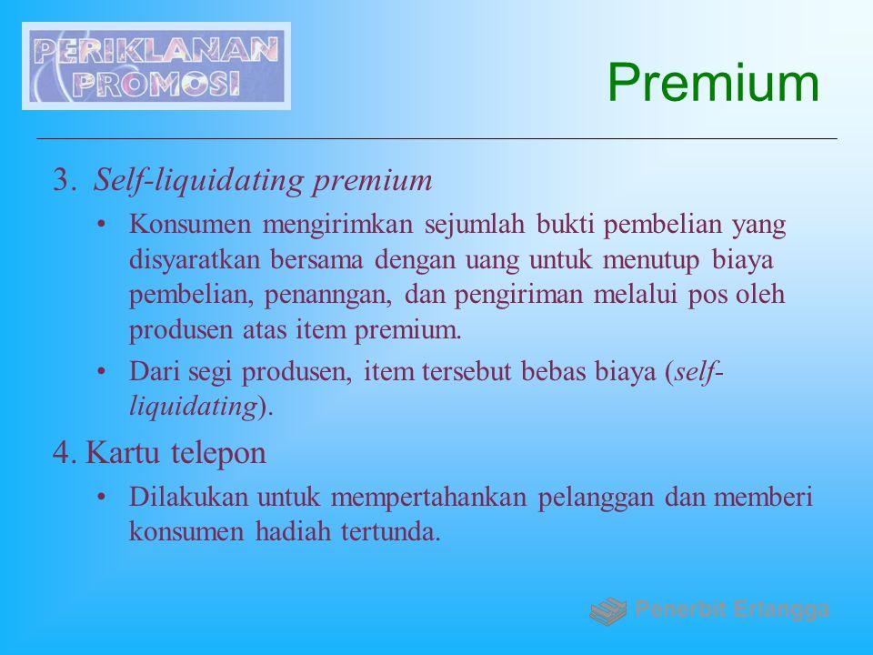 Premium Self-liquidating premium Kartu telepon