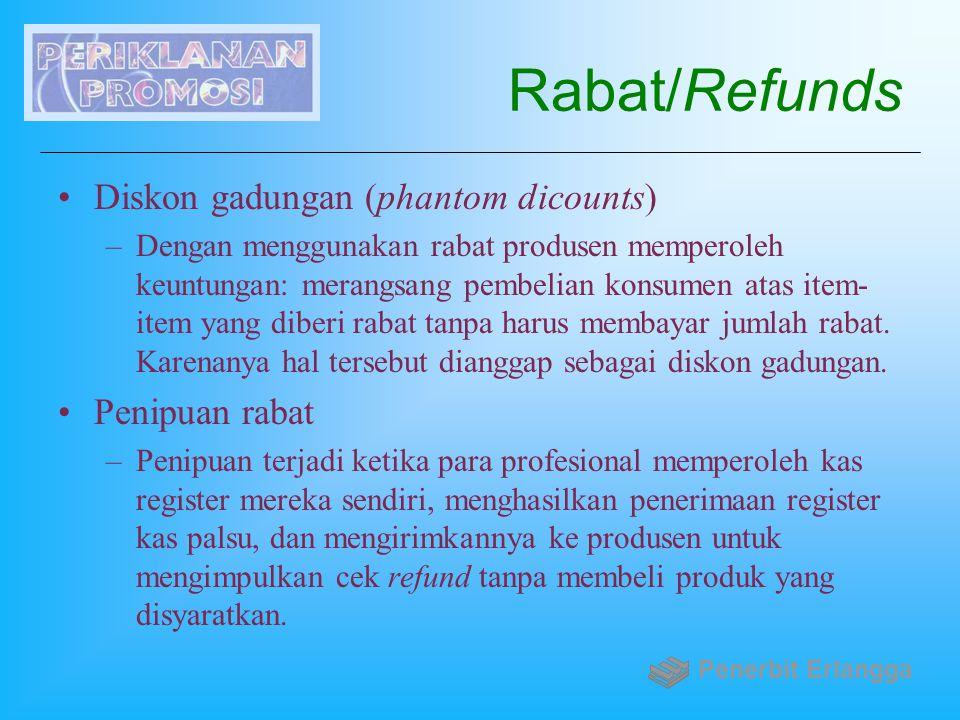 Rabat/Refunds Diskon gadungan (phantom dicounts) Penipuan rabat
