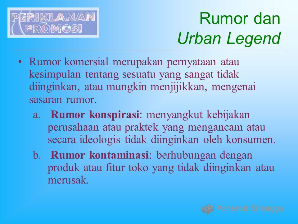 Rumor dan Urban Legend