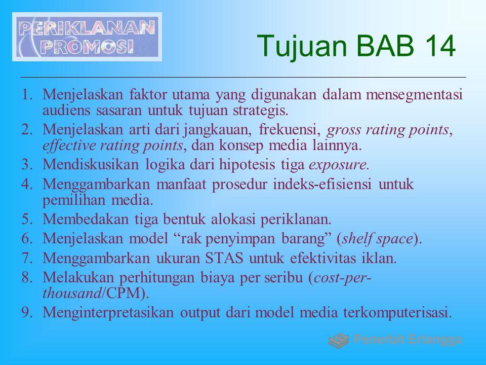 Tujuan BAB 14 Menjelaskan faktor utama yang digunakan dalam mensegmentasi audiens sasaran untuk tujuan strategis.