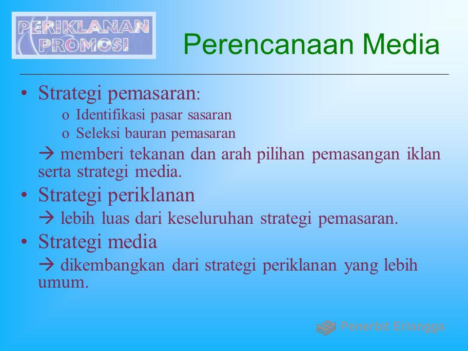 Perencanaan Media Strategi pemasaran: Strategi periklanan
