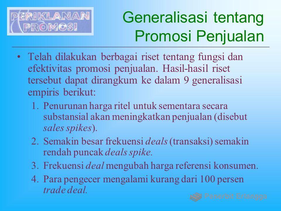 Generalisasi tentang Promosi Penjualan