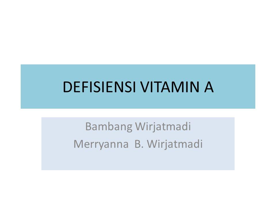 Bambang Wirjatmadi Merryanna B. Wirjatmadi