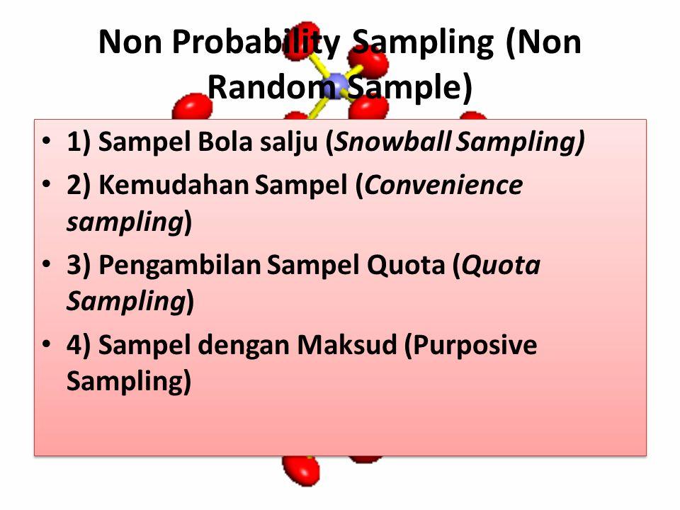 Non Probability Sampling (Non Random Sample)