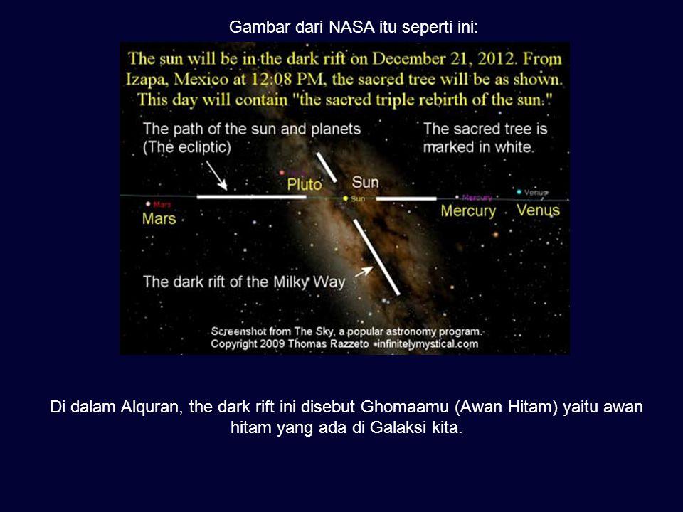 Gambar dari NASA itu seperti ini: